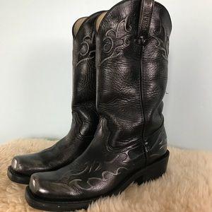 Square toed black Durango women's boot